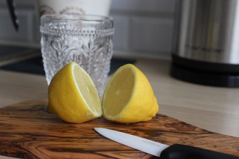 citron jaune découpé