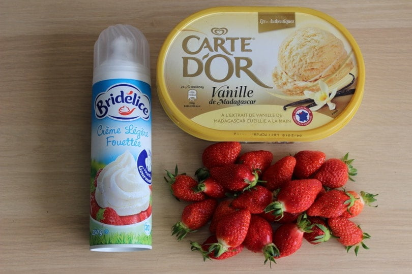 ingredients dessert fraises