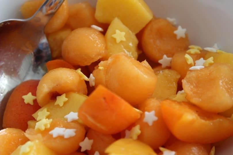zoom salade de fruits melon