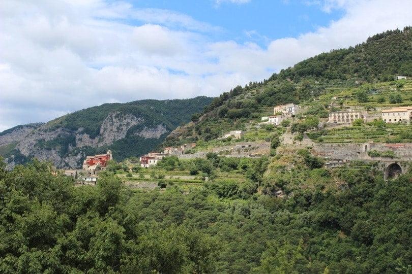 Vue depuis Ravello, ville radieuse