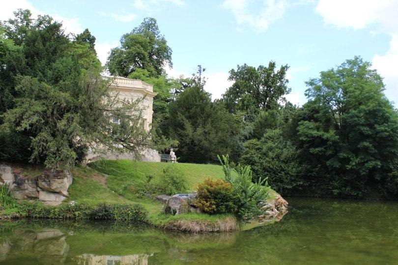 vue du belevédère au domaine de Marie-Antoinette