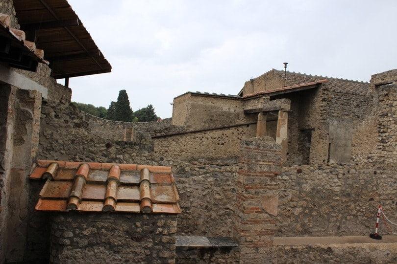 vue interieur dune maison pompei