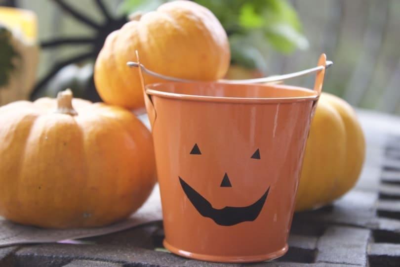 Courges et photophore pour Halloween