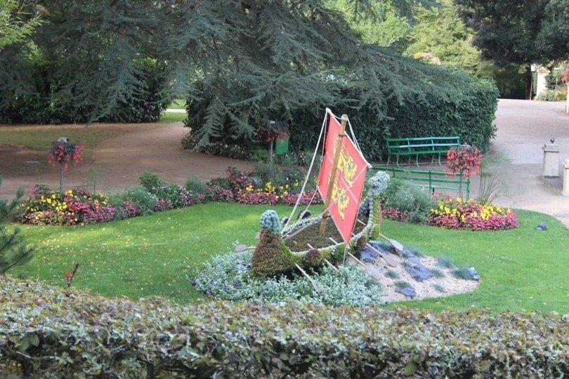 Drakkar du jardin des plantes de Coutances