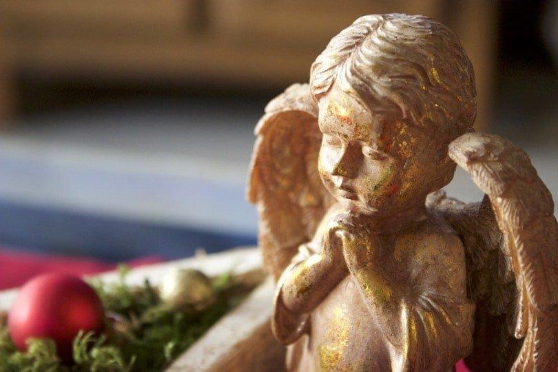 Un ange doré pour ma décoration de Noël.