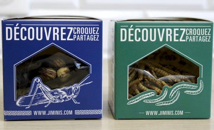 Manger des insectes, boîtes apéritif Jimini's