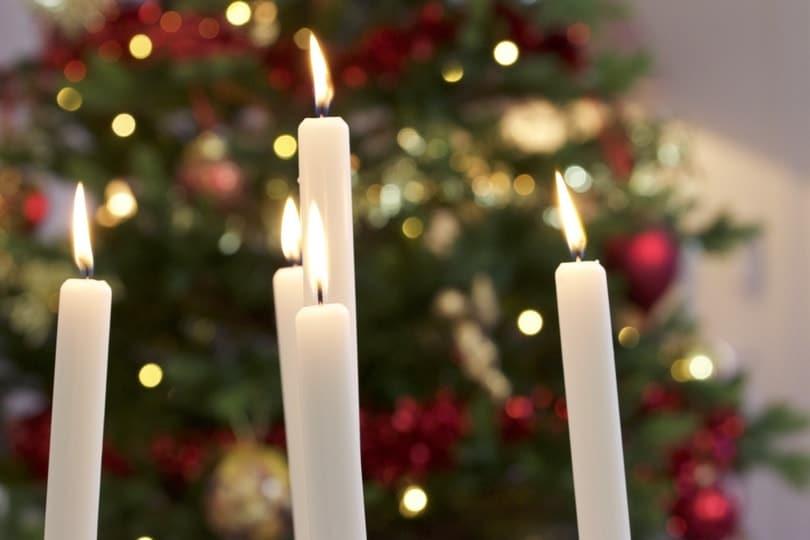 Des bougies pour la nouvelle année
