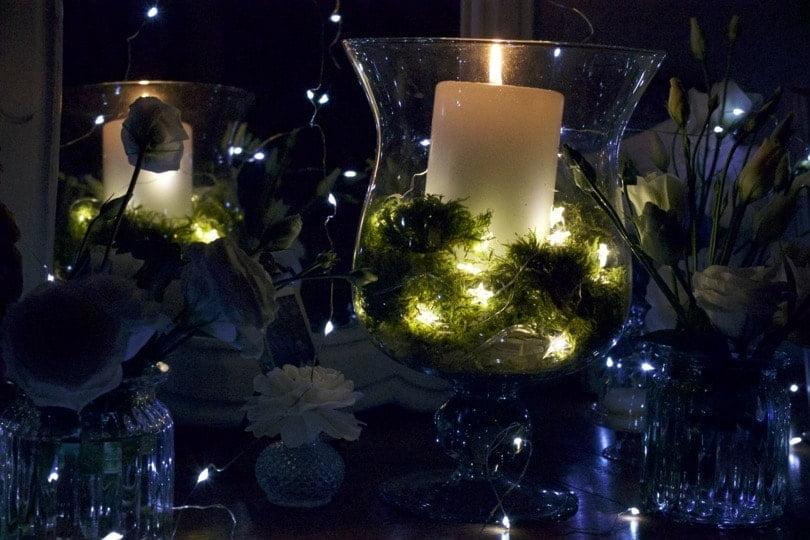 Lumière romantique dans la chambre