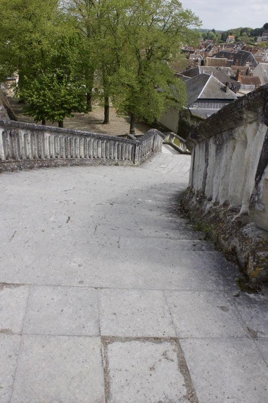 escalier du château de Saint-Aignan