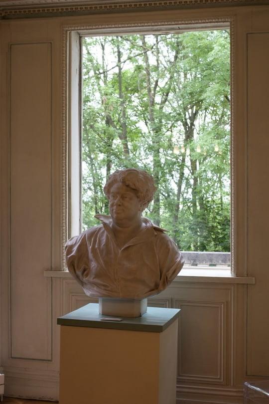 Buste d'Alexandre Dumas dans la salle à manger