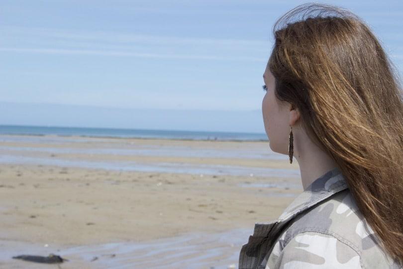 Ma Belle sur la plage de Blainville-sur-mer