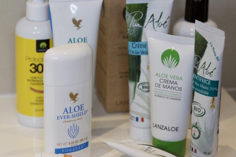 Produits cosmétiques à l'Aloé vera