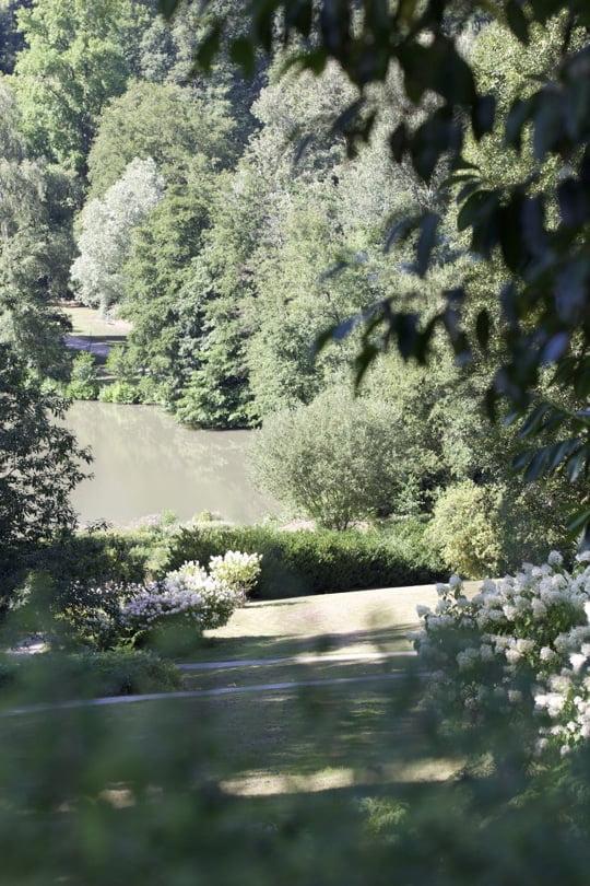 Vue sur la vallée de Chevreuse depuis le château de Breteuil dans les Yvelines