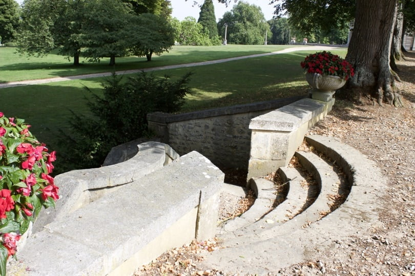Escaliers du bois de Vénus du château de Bizy en Normandie