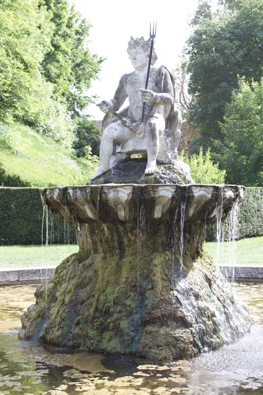 Fontaine de Gribouille du château de Bizy à vernon en Normandie