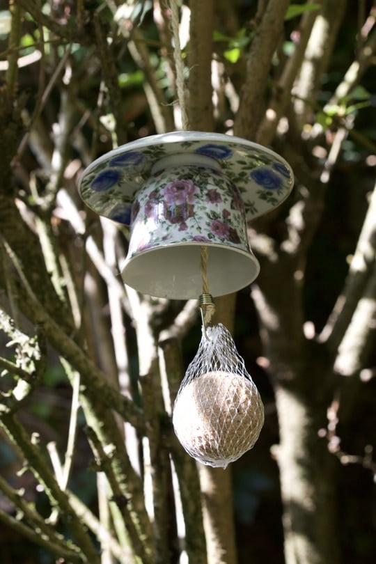 Une tasse pour mangeoire à oiseaux
