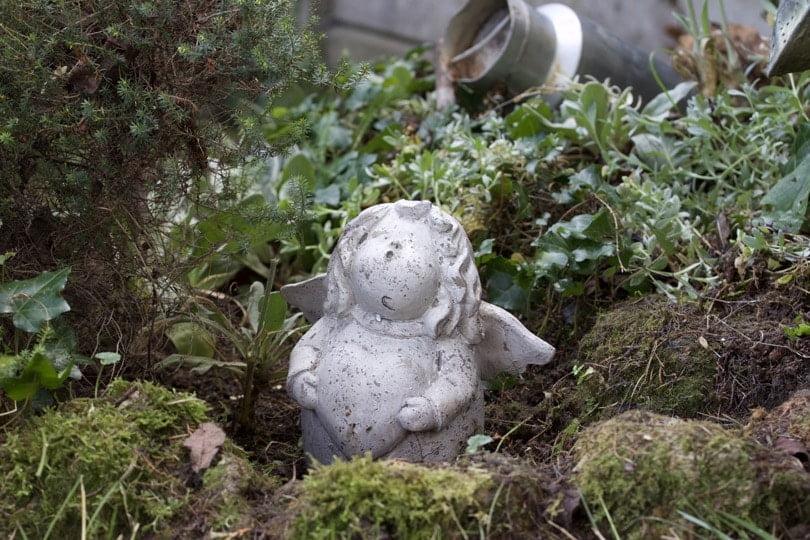 Ange attendant Noël dans le jardin Shabby chic