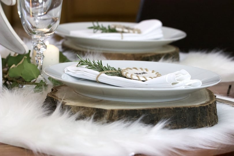 Table de Noël scandinave