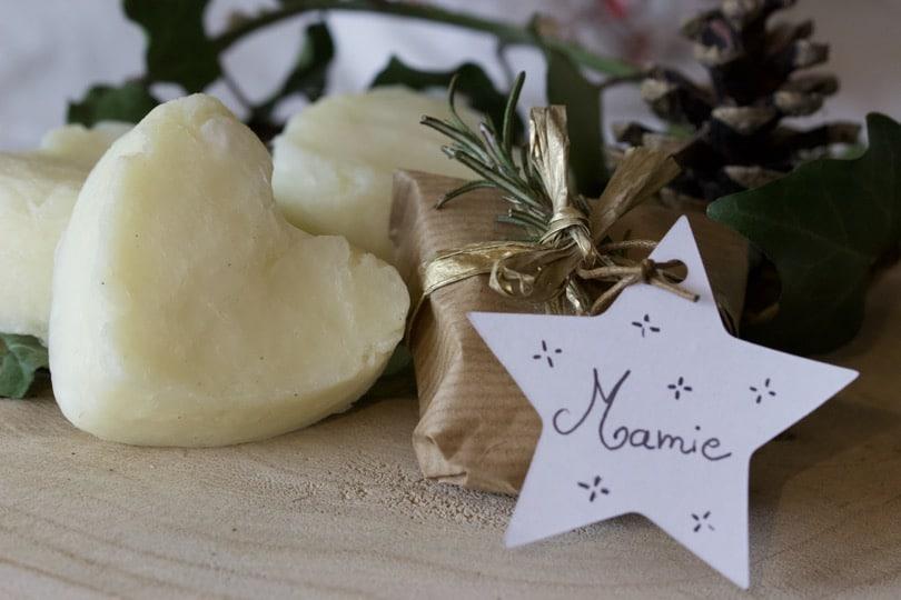 savons home-made pour des porte-noms originaux