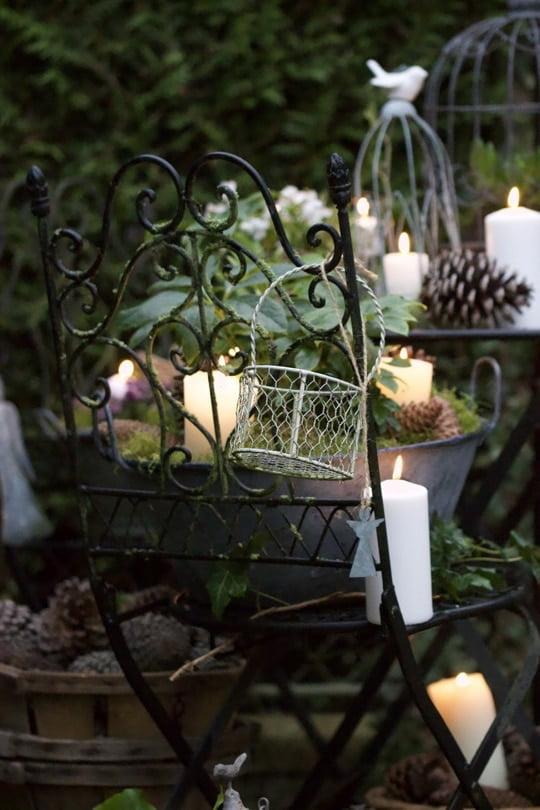 Des bougies pour un jardin hyggelig