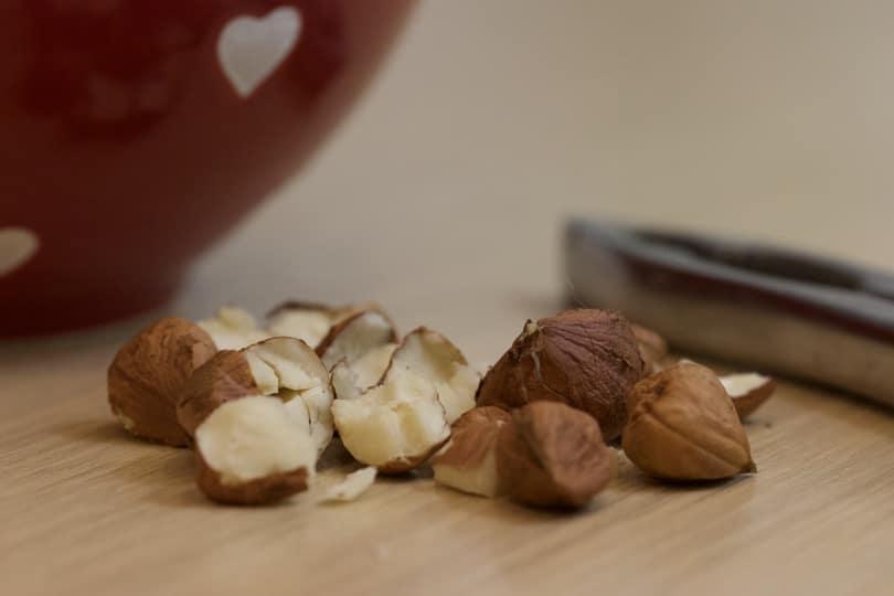 Noisettes pour velouté de potimarron et pommes de terre