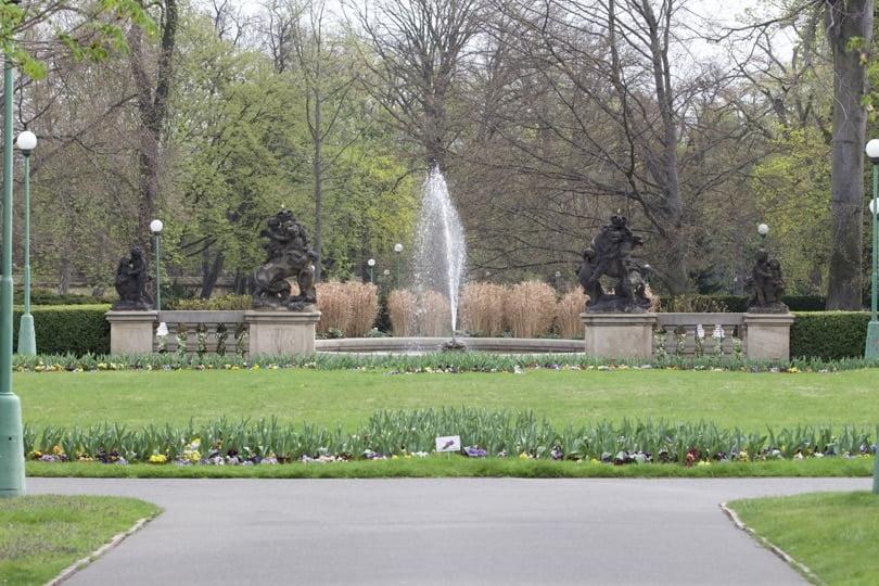 Entrée des jardins royaux du palais de Prague