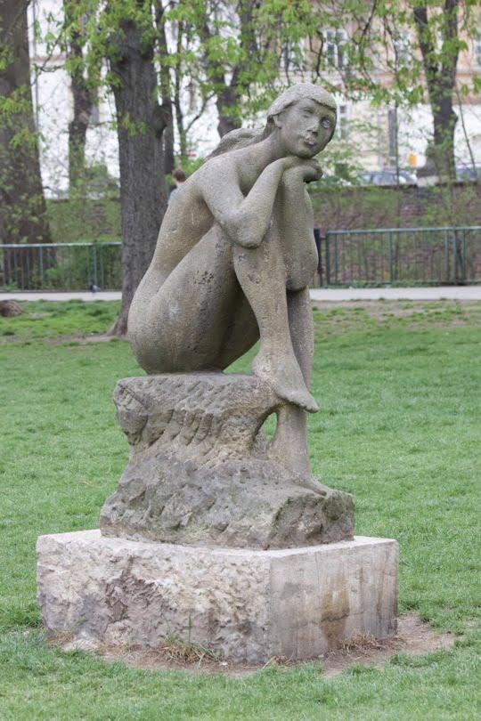 Statue du parc de l'île de Kampa à Prague