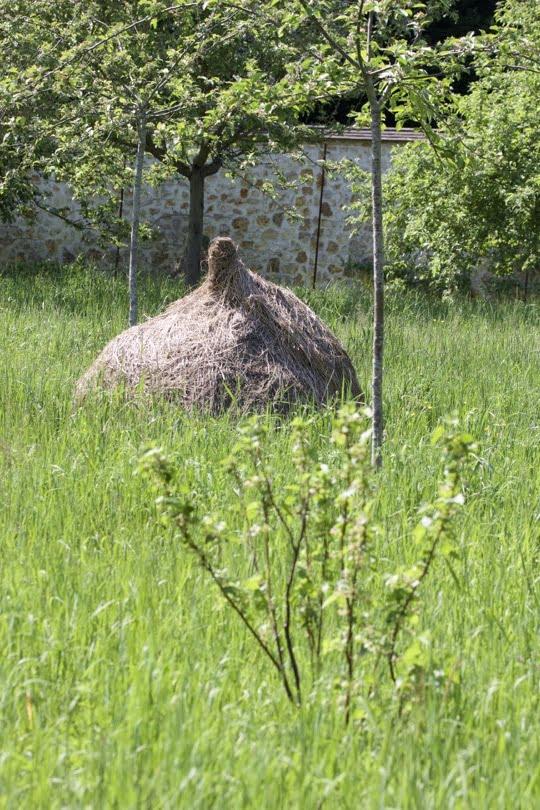 Meule de foin de l'Arboretum de la Vallées-aux-Loups.