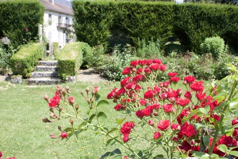 Vers le bassin de l'oeil du château d'Ambleville.