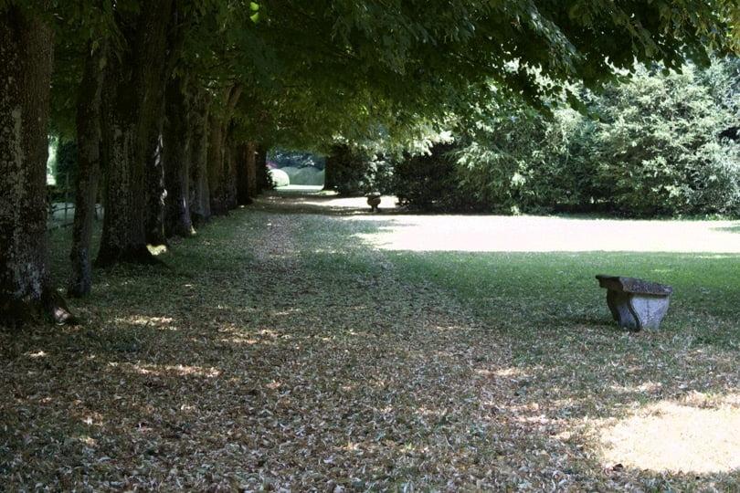 A l'ombre des tilleuls au château d'Ambleville.