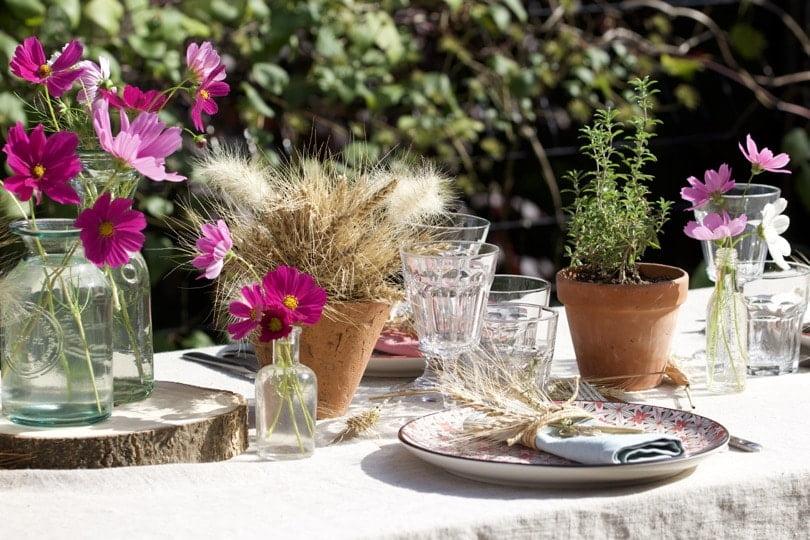 Une belle Table d'été champêtre.