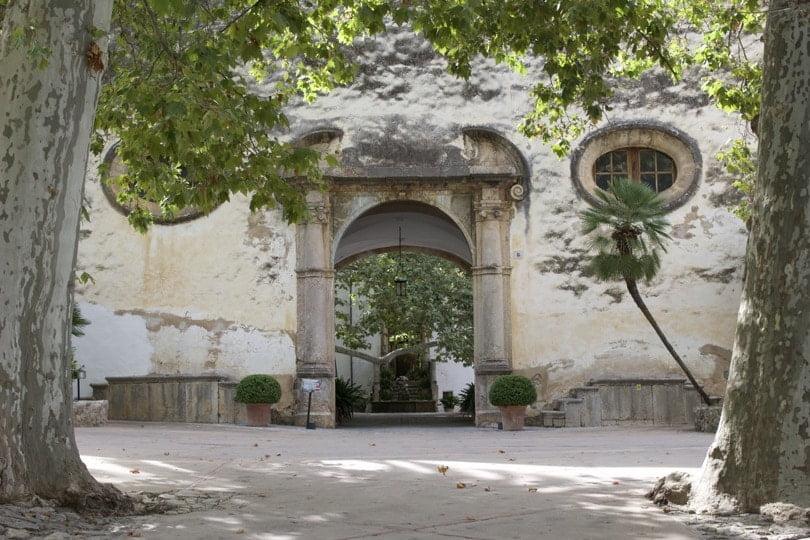 Clastra de la maison des jardins d'Alfàbia à Majorque