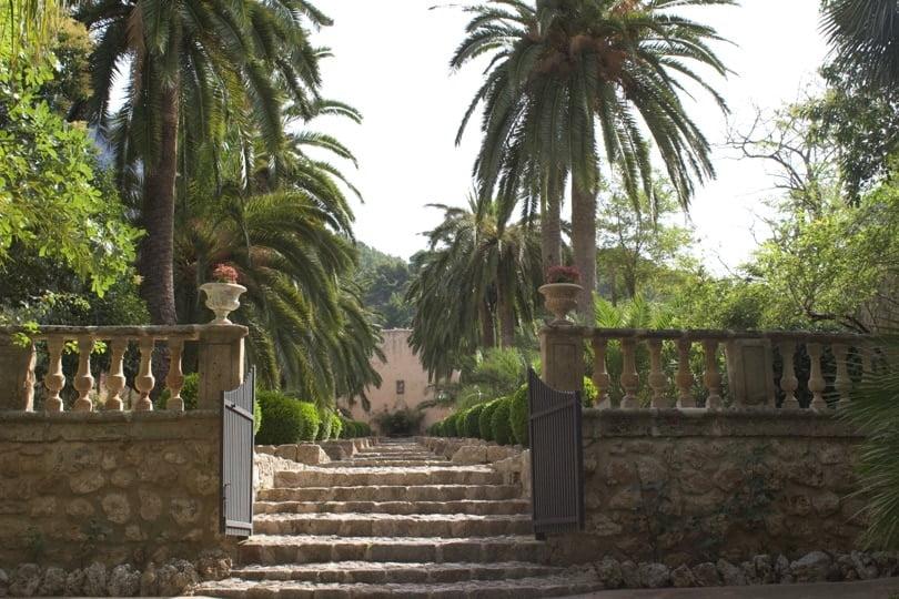 Entrée des jardins d'Alfàbia à Majorque