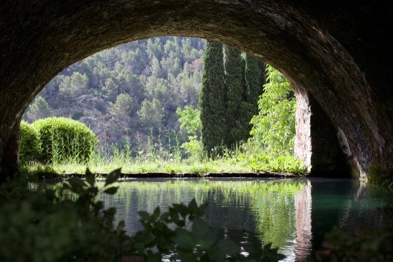 Réservoir d'eau des fontaines des jardins d'Alfàbia à Majorque