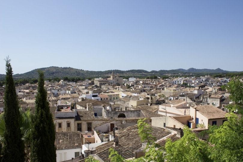 La ville de Artà à Majorque.