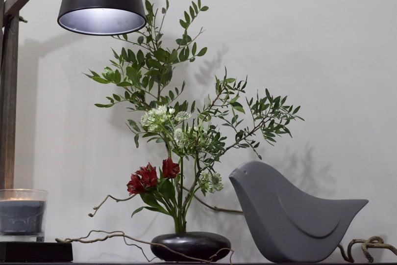 Un Ikebana comme bouquet de bienvenue