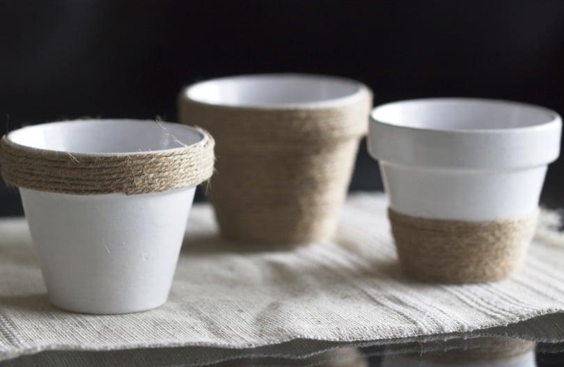 Petits pots pour le balcon