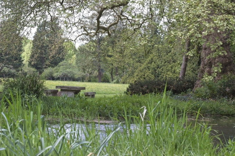 Rivière serpentine du château d'Acquigny