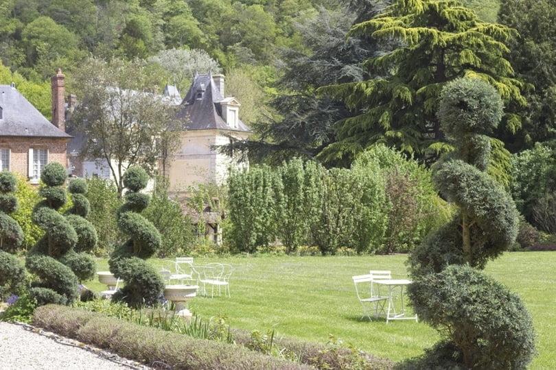 Jardin italien au château d'Acquigny