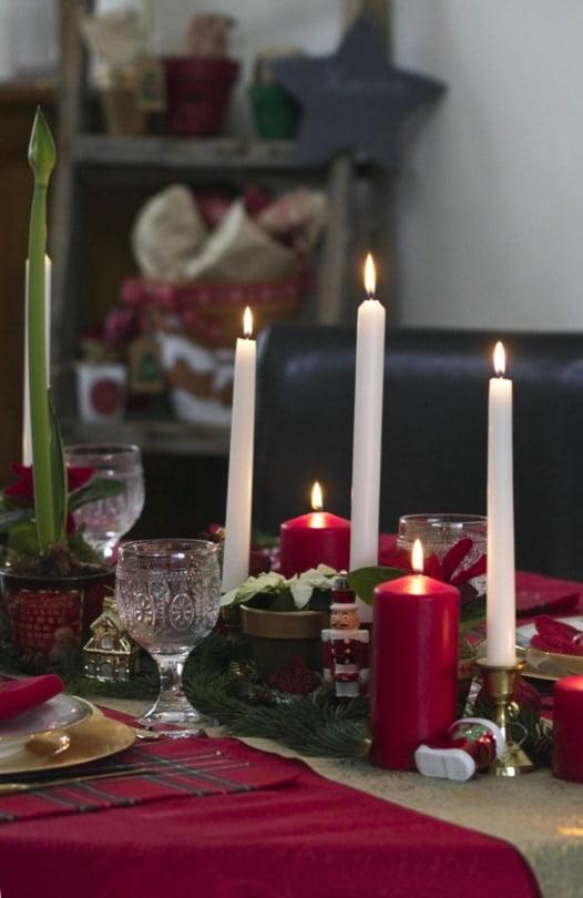 Table illuminée pour attendre Noël