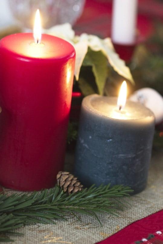 Des bougies pour Noël