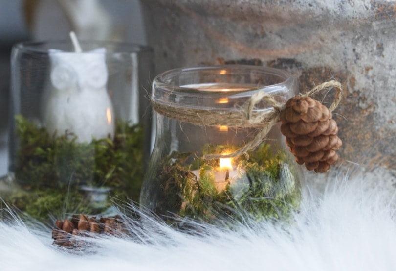 Décorations de Noël avec des ventouses