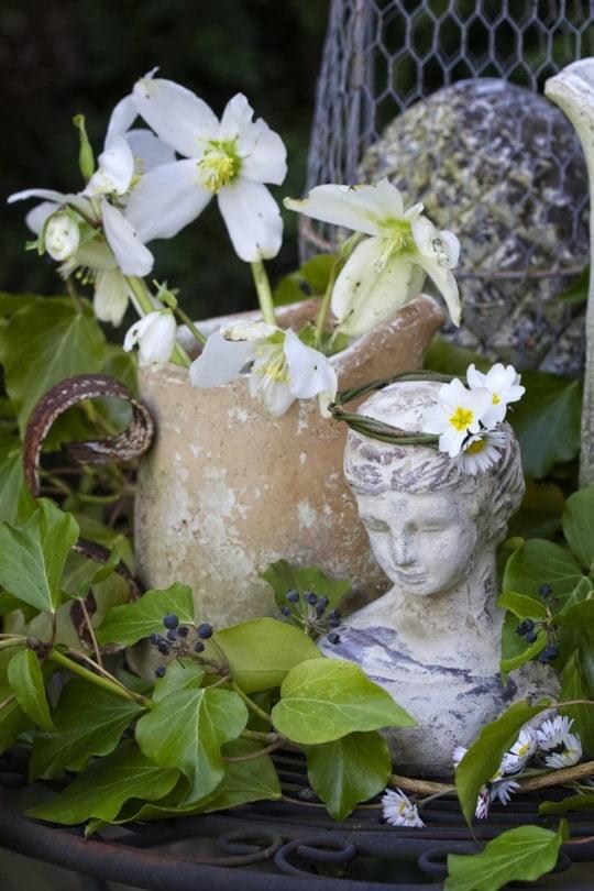 Le coin romantique shabby chic du jardin