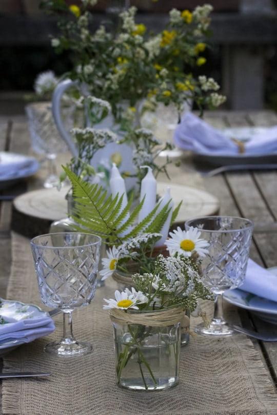Une table champêtre pour la fête des mères