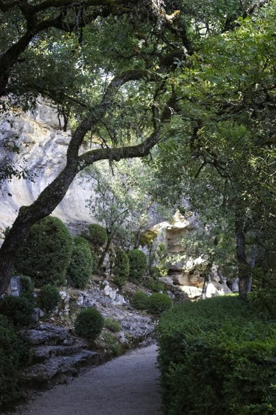 Entrée de la promenade des falaise aux jardins de Marqueyssac
