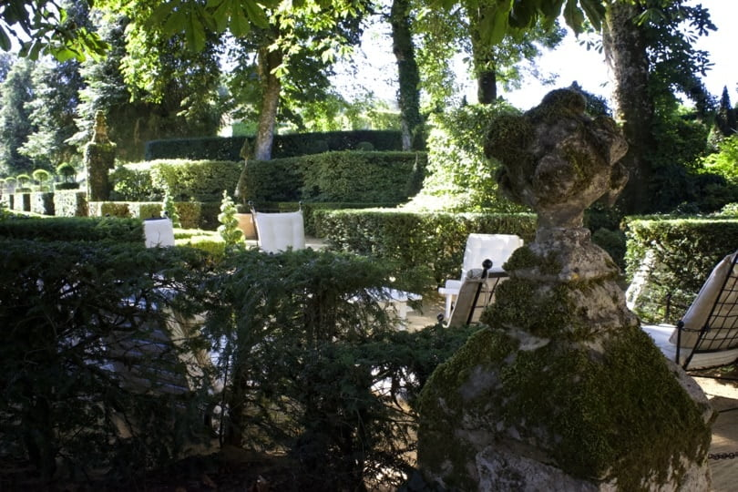 Rond-point de repos des jardins d'Eyrignac