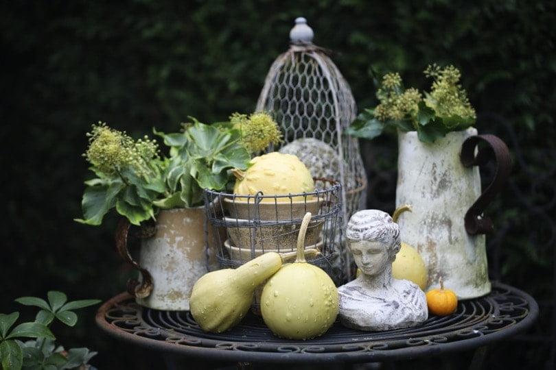 Des décorations automnales pour le jardin