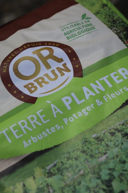 Terre à planter Or Brun