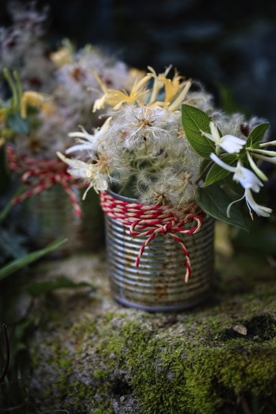 """Transformer des boîtes de conserve en vases """"zéro déchet"""" pour Noël"""