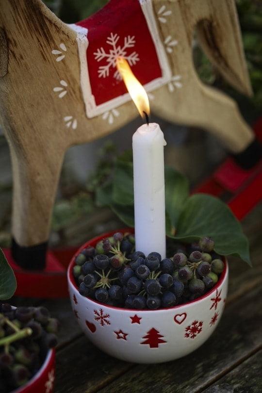 décoration de Noël de dernière minute avec du lierre